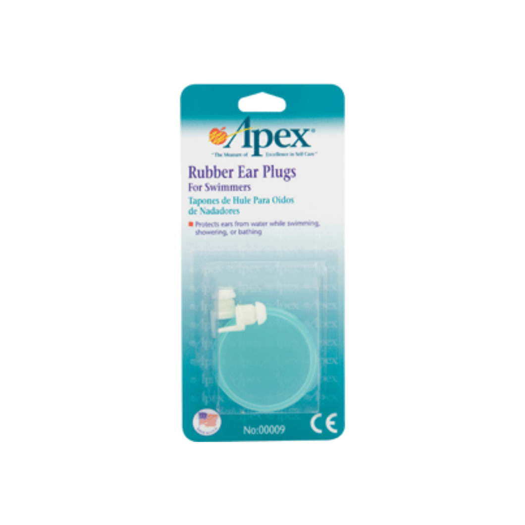 Apex Ear Plugs Rubber for Swimmers 1 Pair