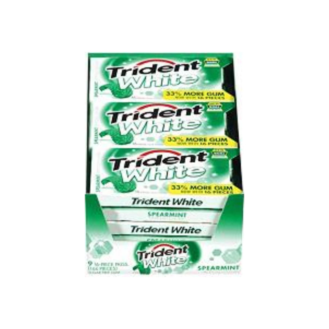 Trident  White Gum Spearmint 9 pack (16 ct per pack)