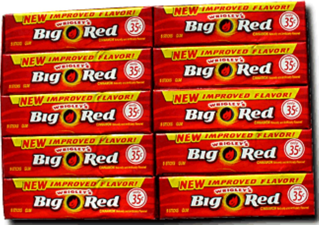 Wrigley's Big Red Gum 40 pack (5ct per pack)