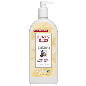 Burt's Bees Naturally Nourishing Milk & Honey Body Lotion 12 oz