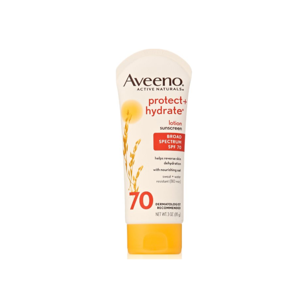 AVEENO Active Naturals Protect + Hydrate Lotion Sunscreen SPF 70 3 oz