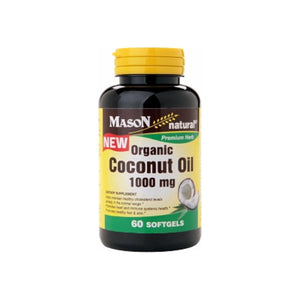 Mason Natural Organic Coconut Oil 1000mg, Softgels 60 ea