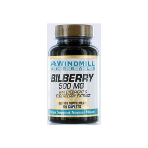 Windmill Bilberry 500 Mg Capsules 60 ea
