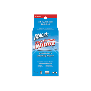 Mack's Lens Wipes Cleaning Towelettes 30 ea