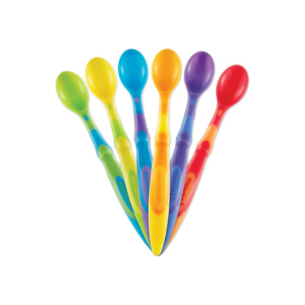 Munchkin Soft-Tip Infant Spoons, Assorted Colors 6 ea