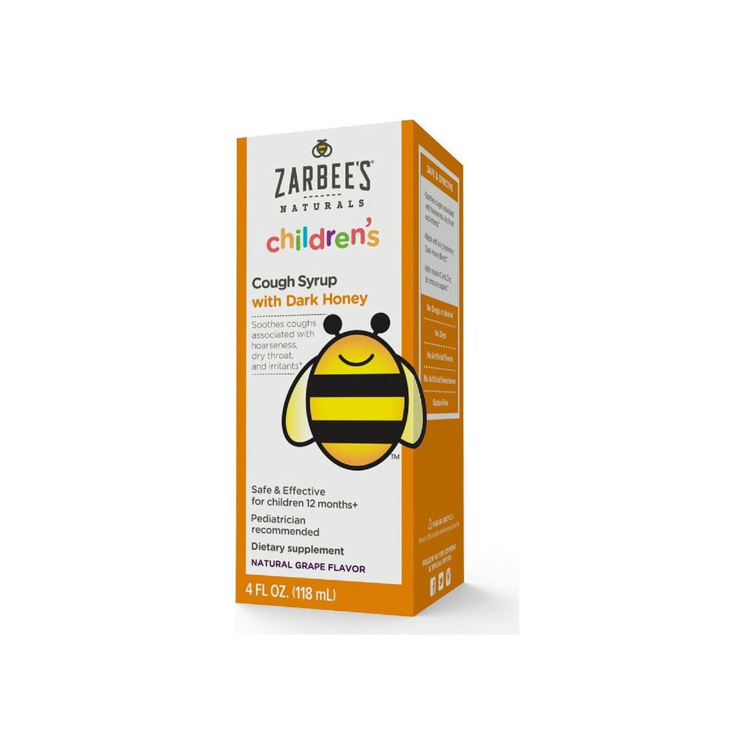 ZarBee's Children's Cough Syrup Natural Grape Flavor 4 oz