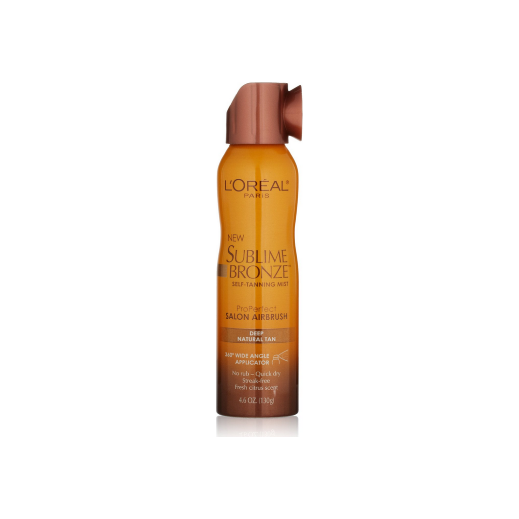 L'Oreal Sublime Bronze Self-Tanning Mist, Deep Natural Tan 4.60 oz