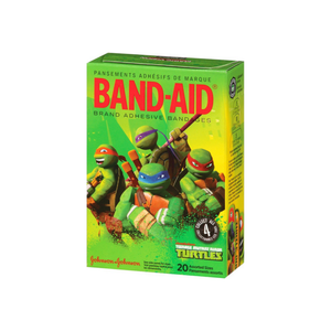 BAND-AID Adhesive Bandages, Teenage Mutant Ninja Turtles, Assorted Sizes 20 ea