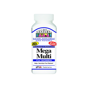 21st Century Mega Multi for Women Tablets 90 ea - Pharmapacks