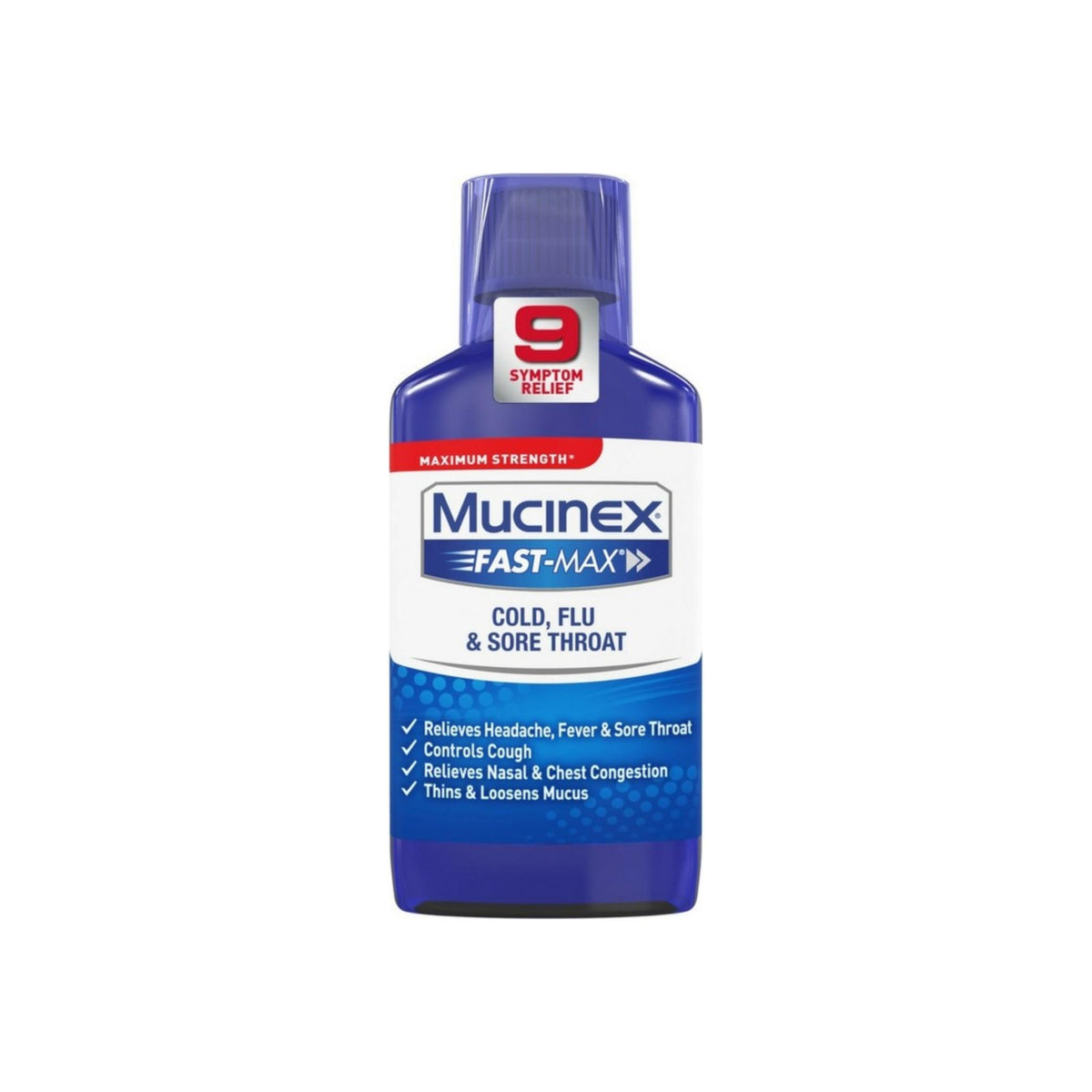 Mucinex Fast-Max Adult Cold, Flu And Sore Throat Liquid, 6