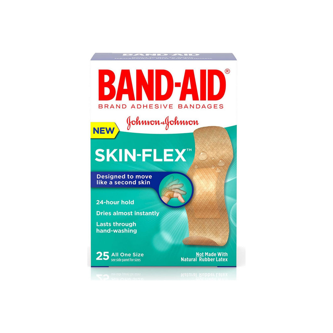BAND-AID Skin-Flex Adhesive Bandages, All One Size 25 ea