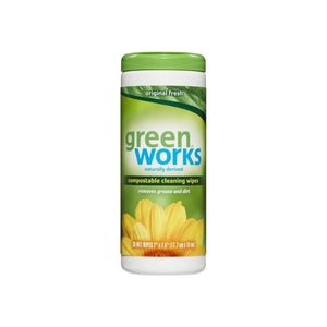 Green Works Compostable Cleaning Wipes, Original Fresh 30 ea [044600303116]
