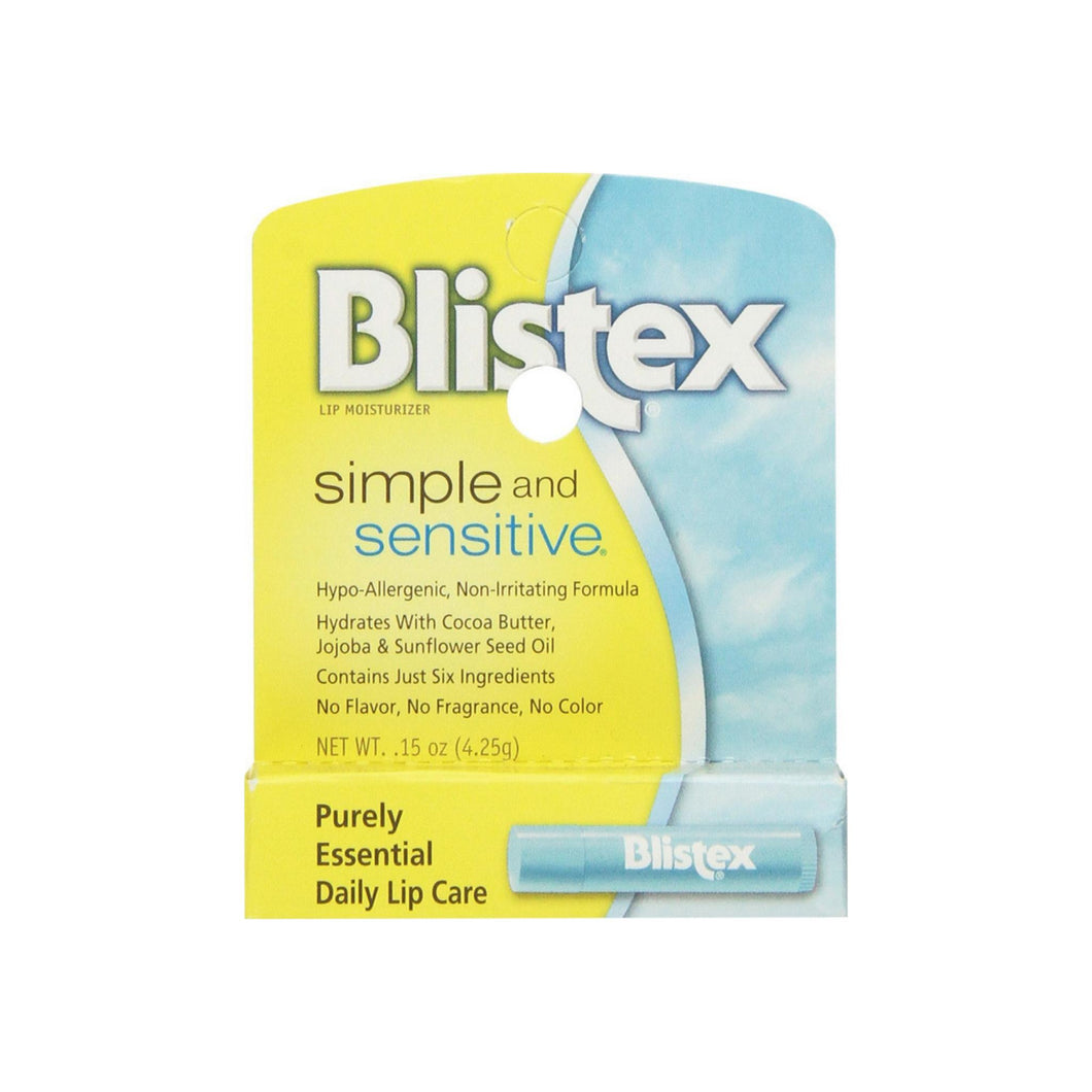 Blistex Simple & Sensitive Lip Moisturizer 0.15 oz