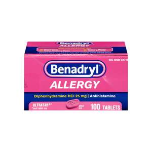 Benadryl Allergy Ultratab Tablets 100 ea