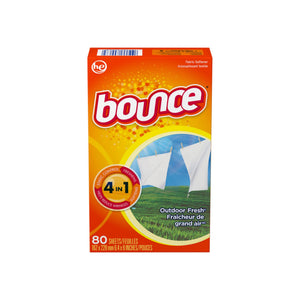 Bounce Fabric Softener Sheets, Outdoor Fresh Scent 80 ea