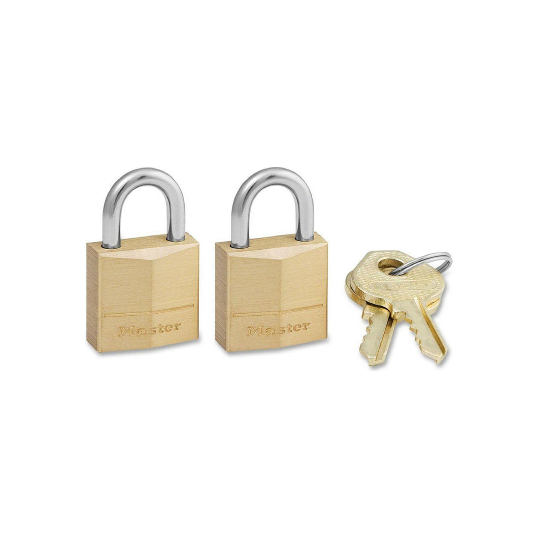 Master Lock Brass Padlock with Keys 2 ea