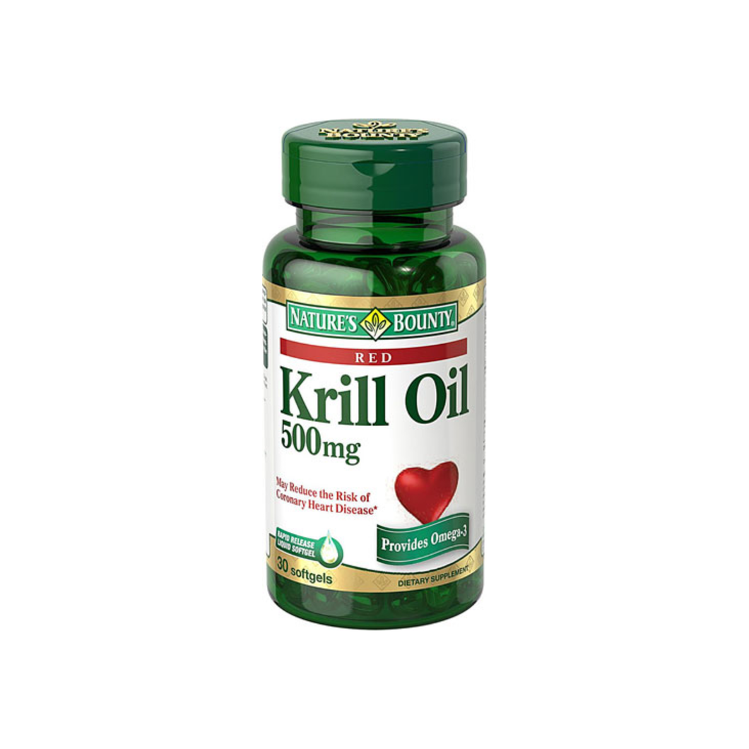 Nature's Bounty  Red Krill Oil 500 mg Dietary Supplement Softgels 30 Soft Gels