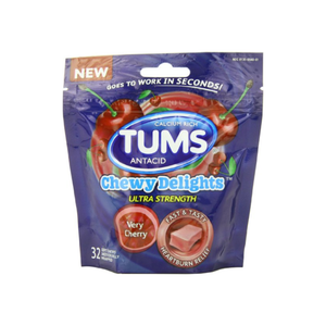TUMS Chewy Delights Ultra Strength Soft Chews, Very Cherry 32 ea