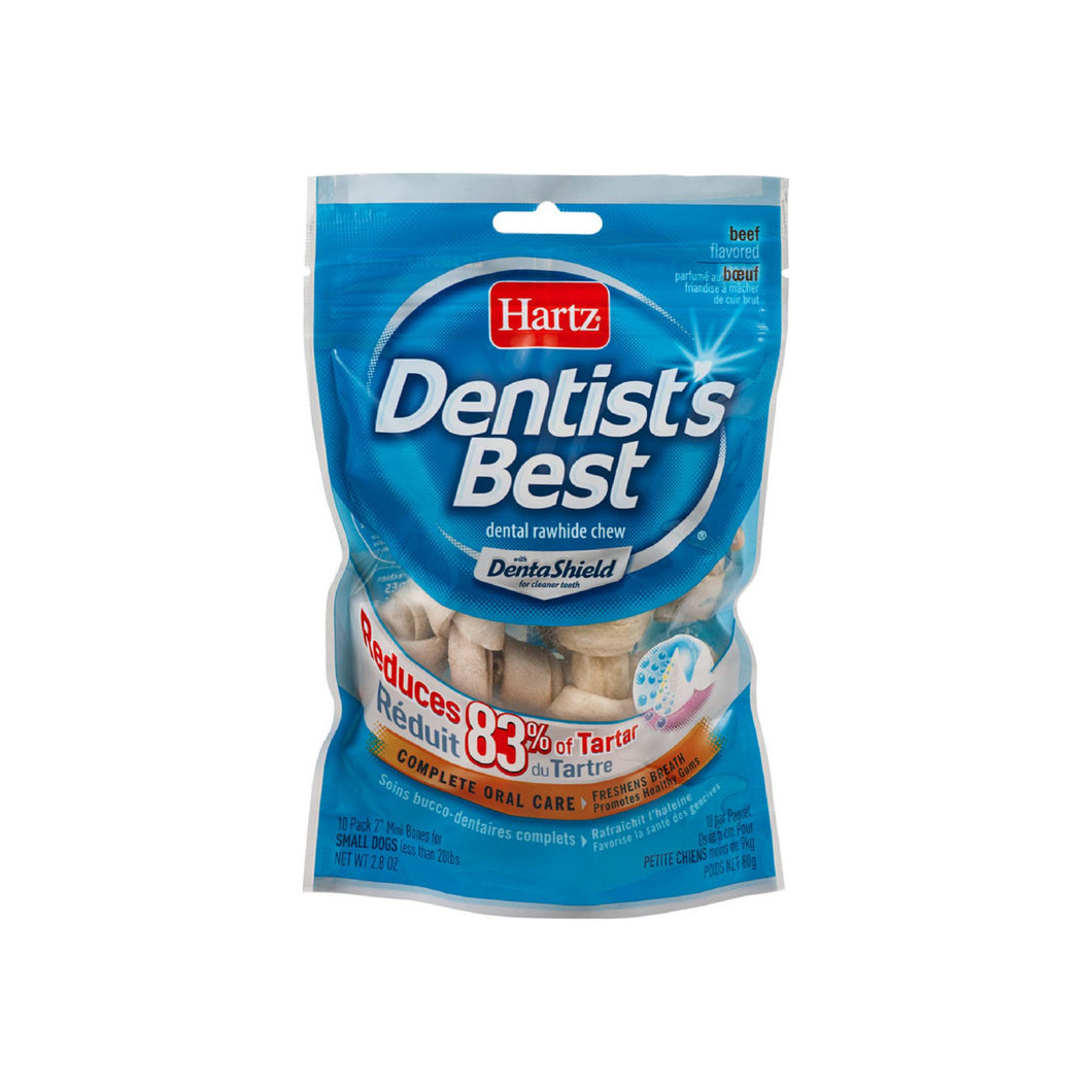 Hartz Dentist's Best Dental Rawhide Chews with DentaShield 10 ea