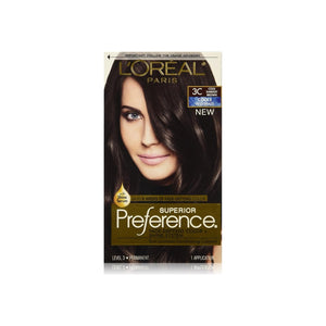 L'Oreal Superior Preference Fade-Defying Color + Shine System, Cool Darkest Brown [3C] 1 ea