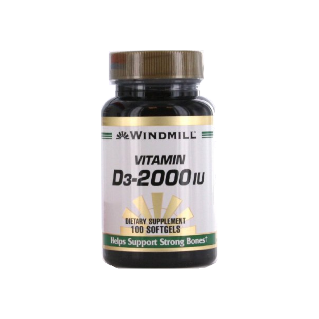 Windmill Vitamin D3-2000 IU Softgels 100 ea