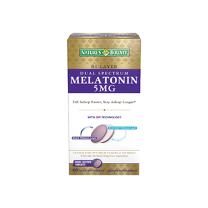 Nature's Bounty Melatonin 5 mg Bi-Layer Tablets 60 ea