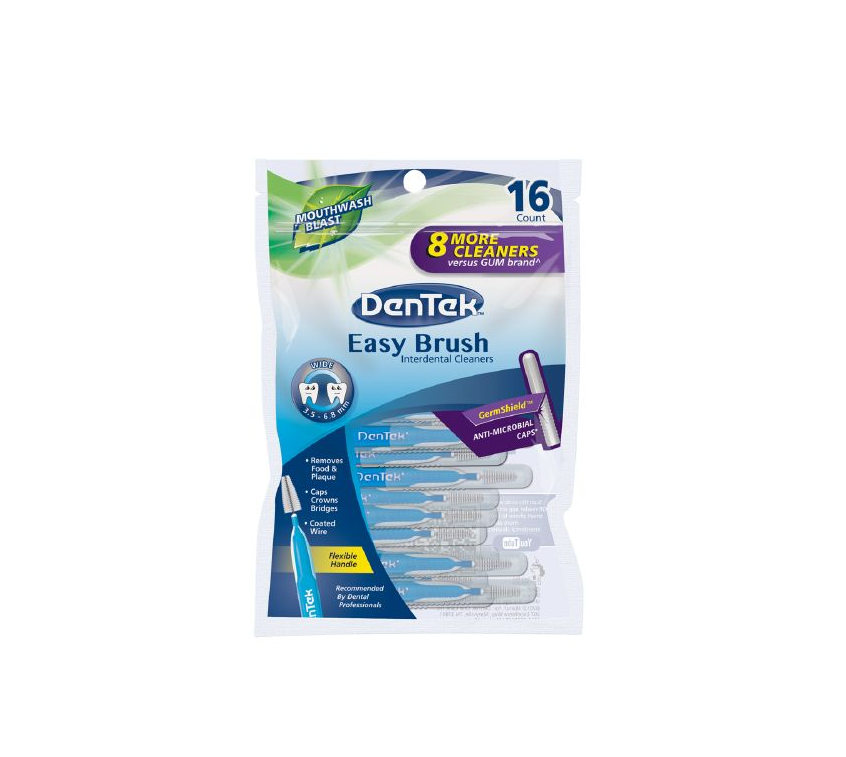 DenTek Wide Brush Cleaners 16 Each