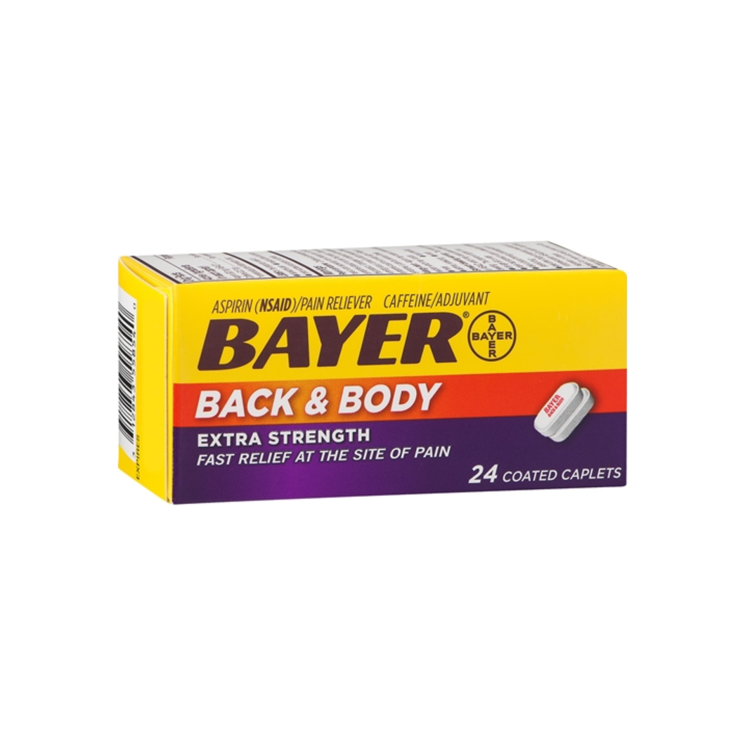 Bayer Extra Strength Back & Body Coated Caplets 24 ea