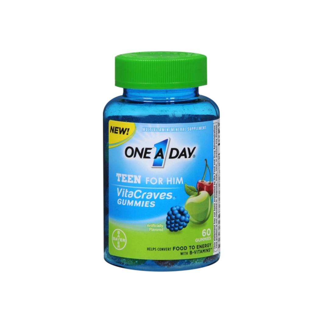 One-A-Day Vitacraves Teen For Him Gummies, Assorted 60 ea