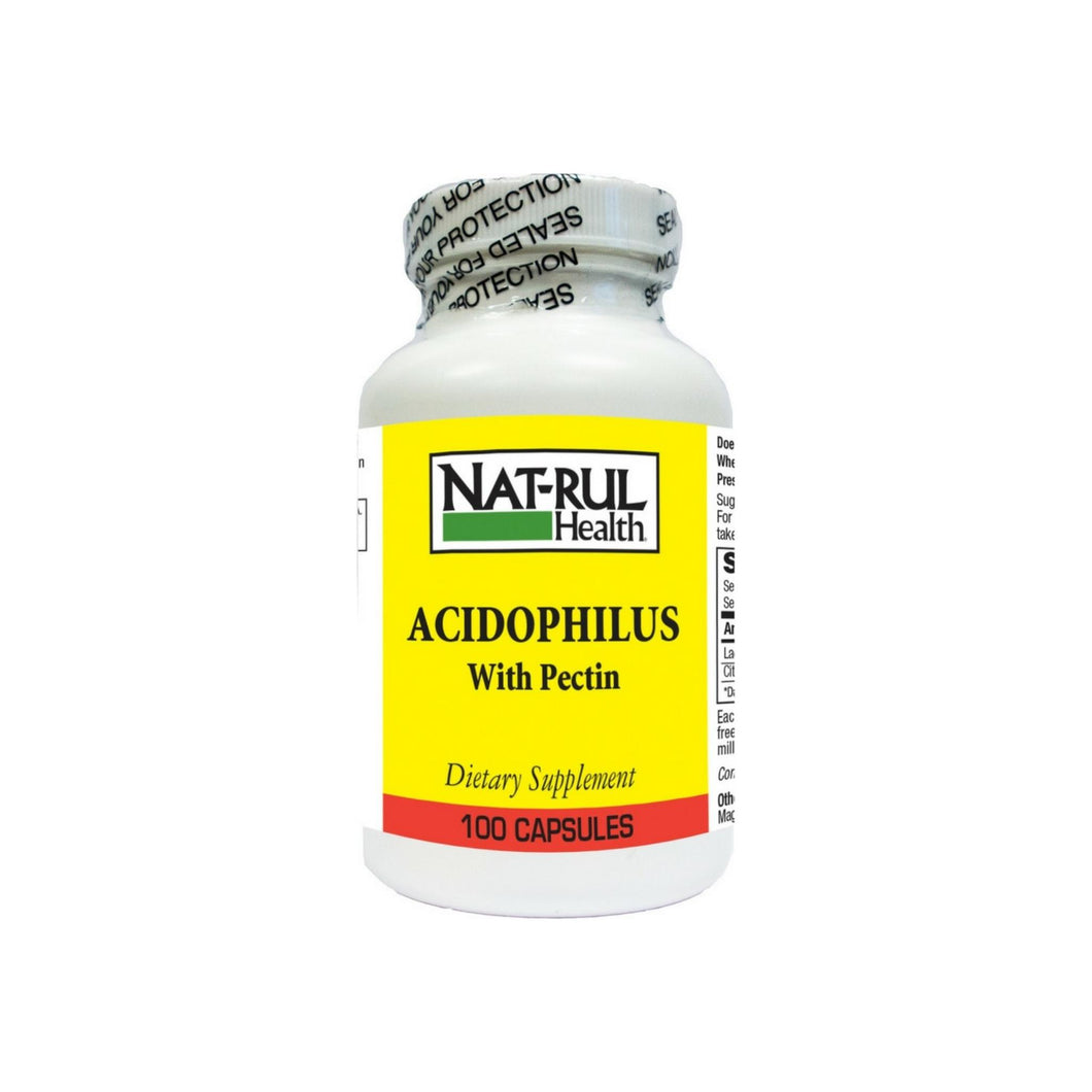 Nat-Rul Acidophilus with Pectin Capsules 100 ea