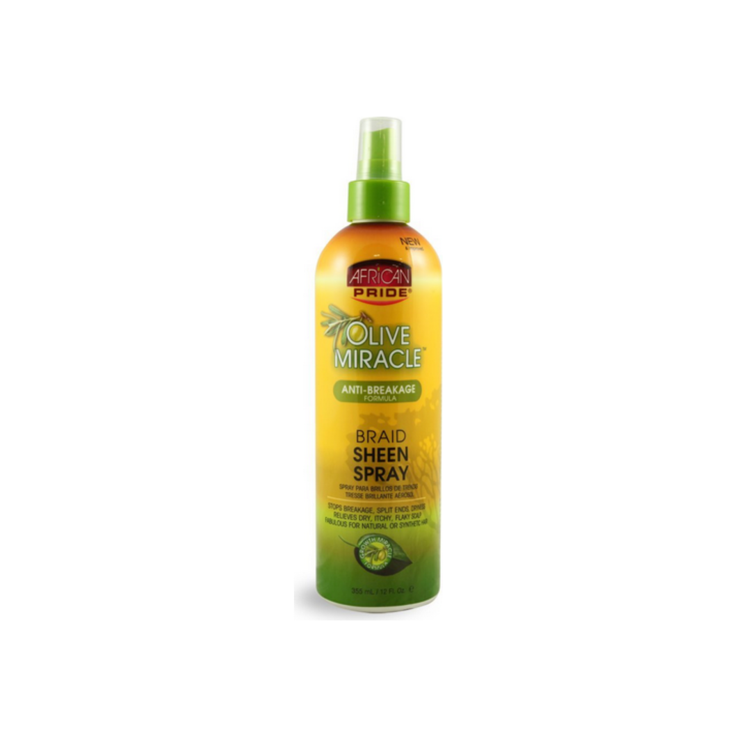 African Pride Olive Miracle Braid Sheen Spray, 12 oz