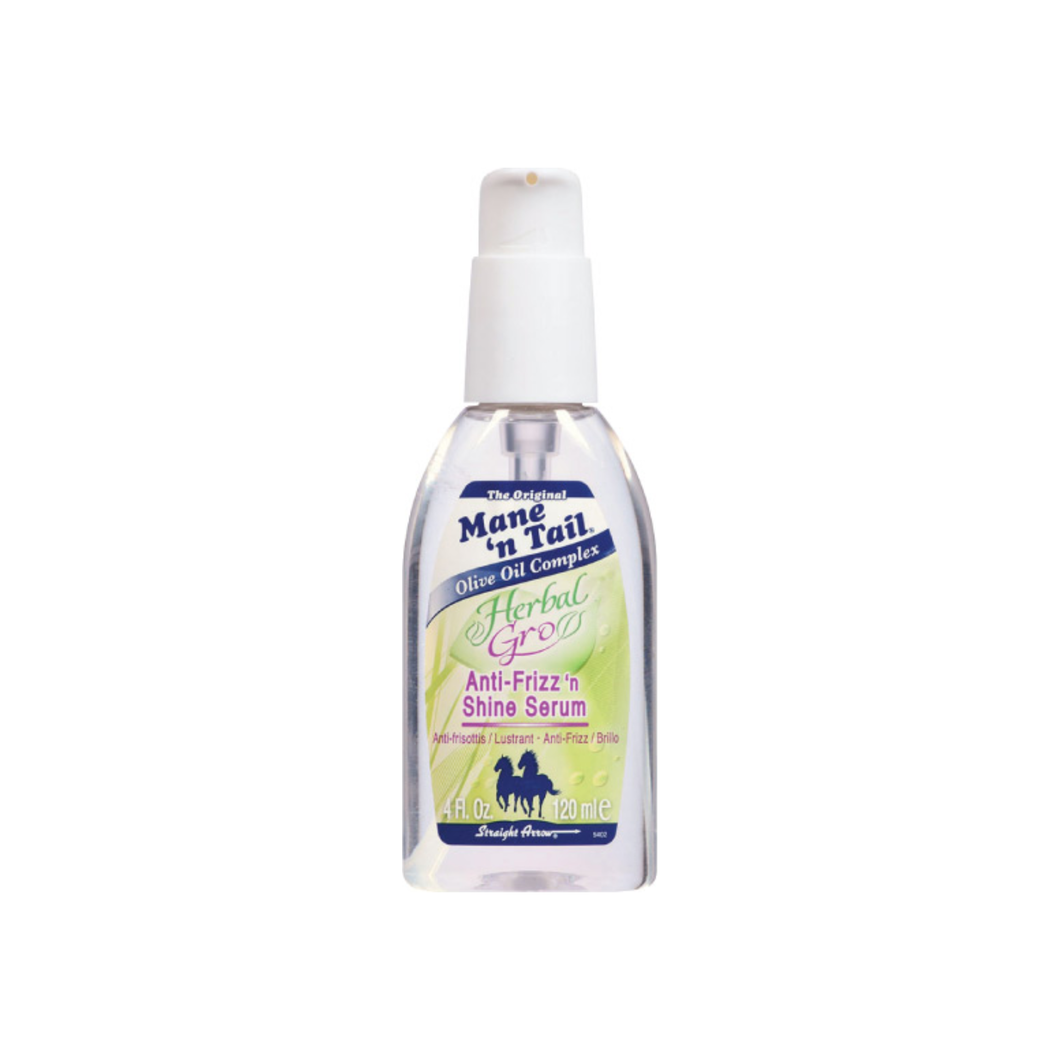 Mane'n Tail Herbal-Gro Anti-Frizz 'n Shine Serum, 4 oz