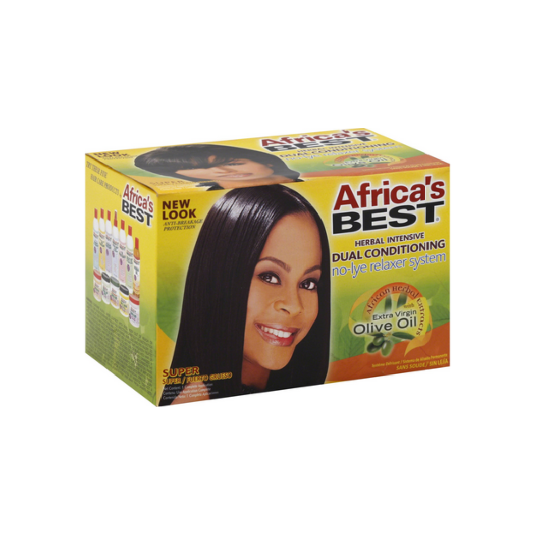 Africa's Best Dual Conditioning Relaxer System, Super, No-Lye 1 ea