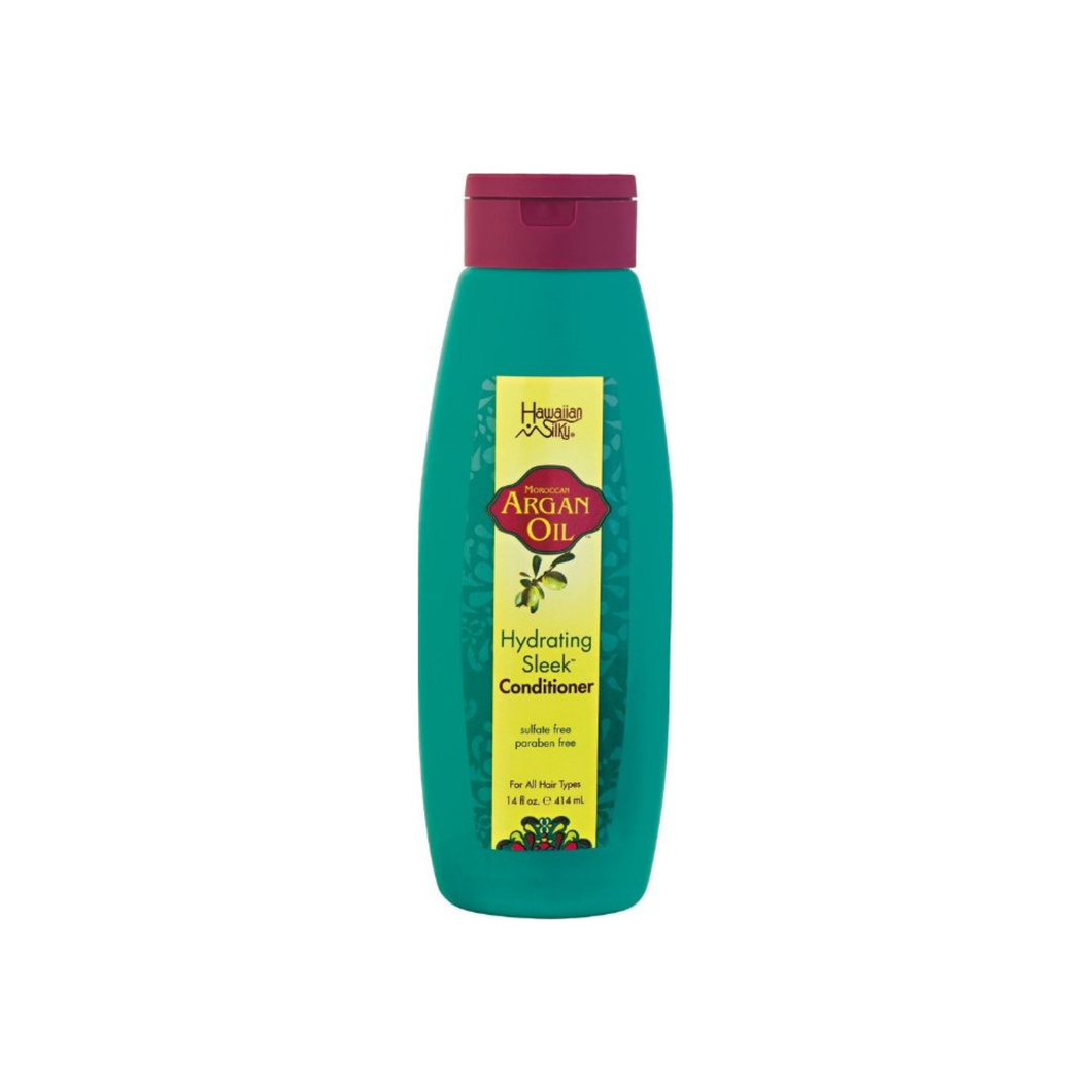 Hawaiian Silky Argan Oil Hydrating Sleek Conditioner, 14 oz