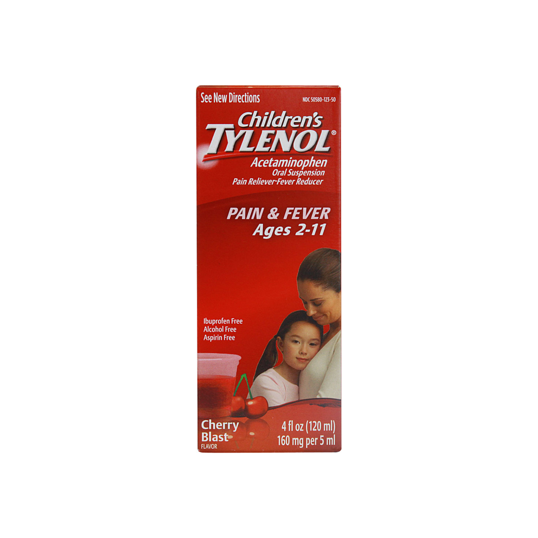 TYLENOL Children's Pain & Fever Relief, Cherry Blast Liquid, 4 oz [300450123046]