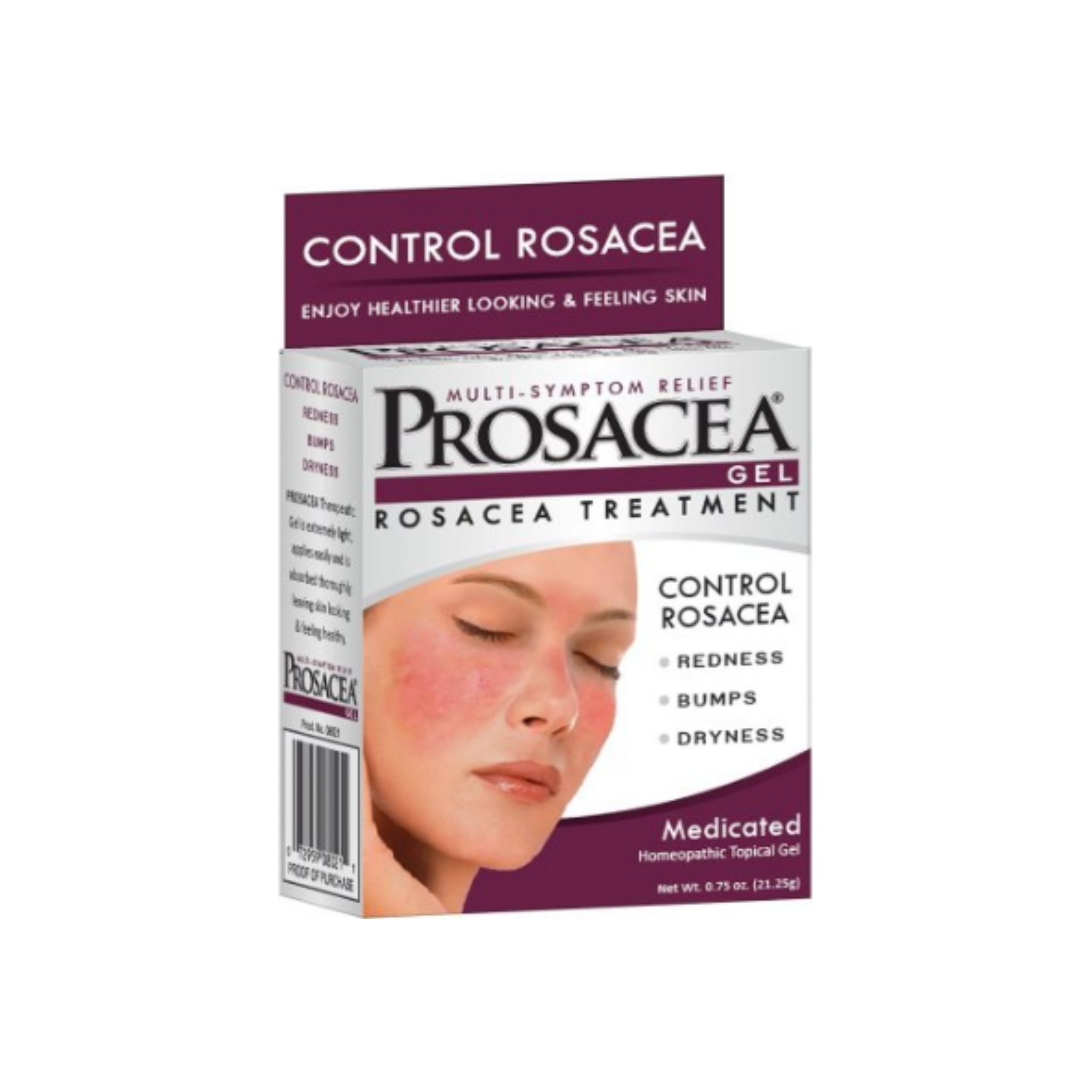 Prosacea Rosacea Treatment Homeopathic Topical Gel 75 Oz