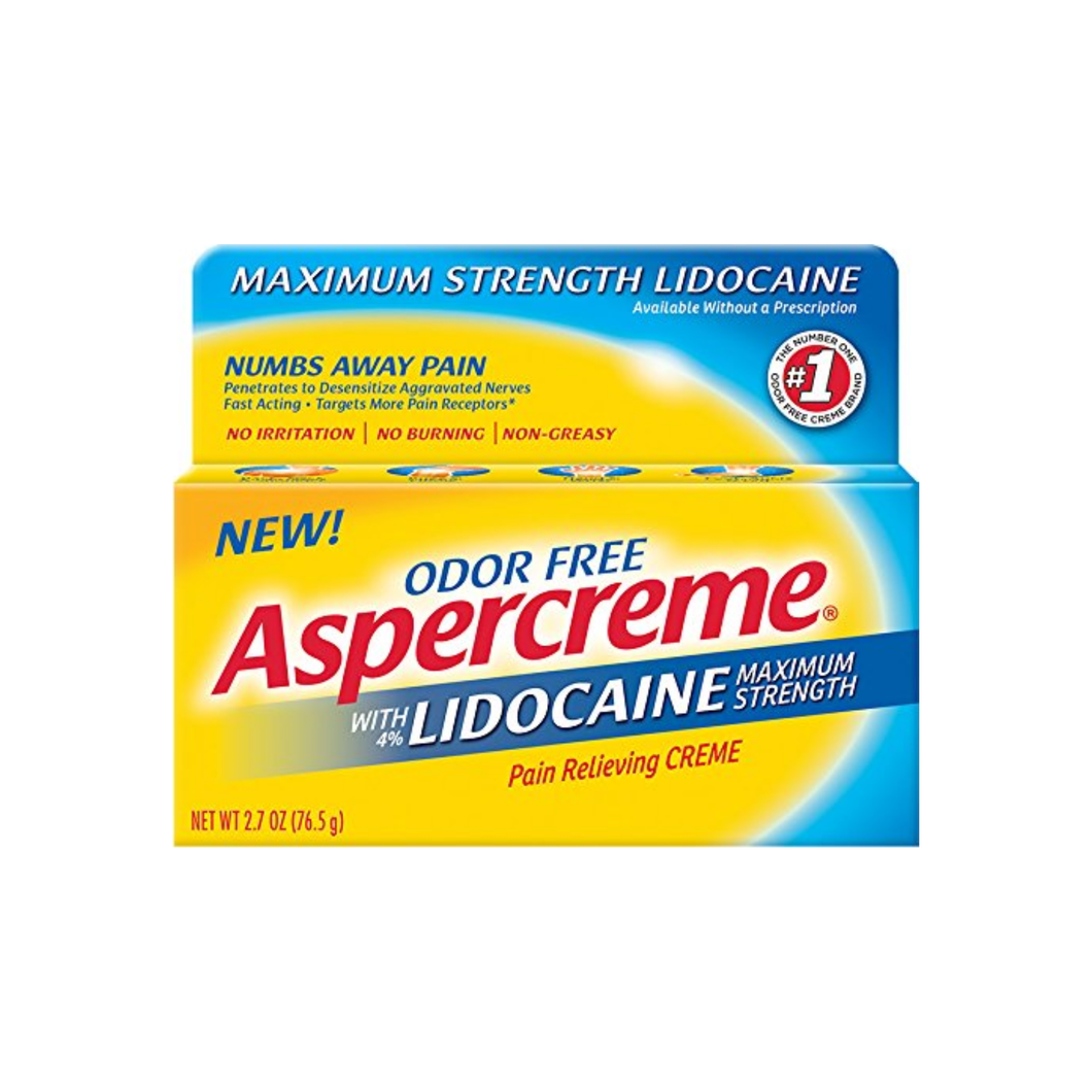 ASPERCREME Maximum Strength Lidocaine Pain Relieving Creme 2.7 oz