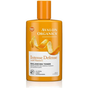 Avalon Organics Intense Defense with Vitamin C Balancing Toner 8.50 oz