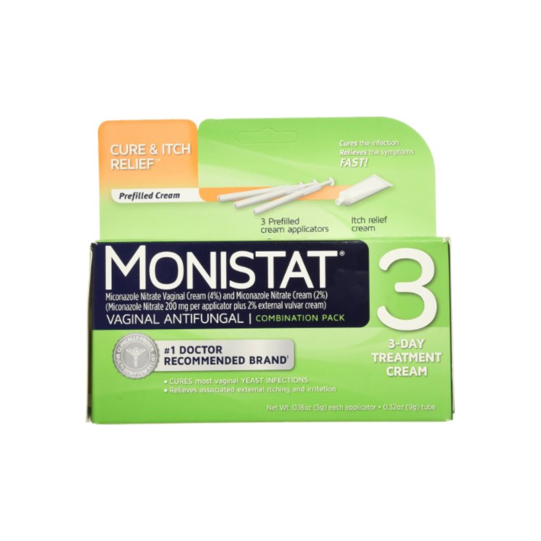 MONISTAT 3 Vaginal Antifungal 3-Day Treatment Combination Pack 1 ea