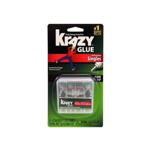 Krazy Glue Instant All Purpose Single Use Tubes 4 ea