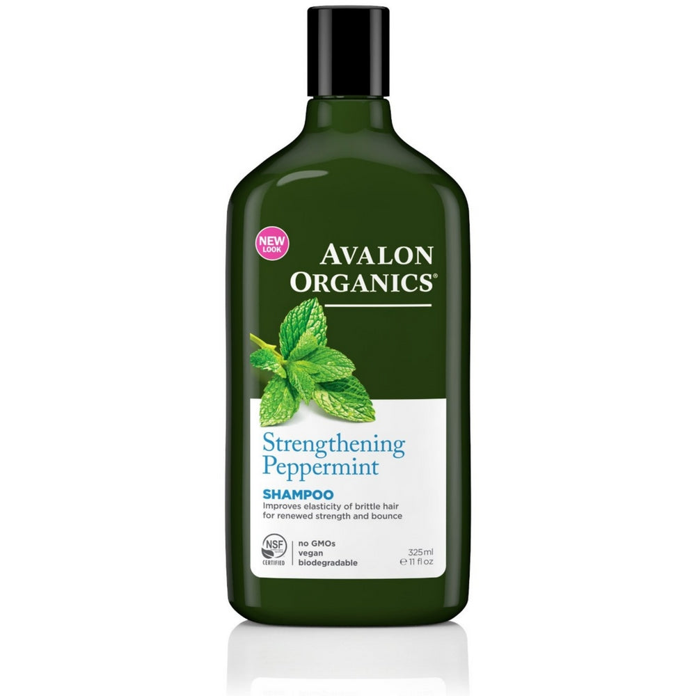 Avalon Organics Strengthening Shampoo, Pepppermint 11 oz