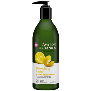 Avalon Organics Hand & Body Lotion, Refreshing Lemon 12 oz