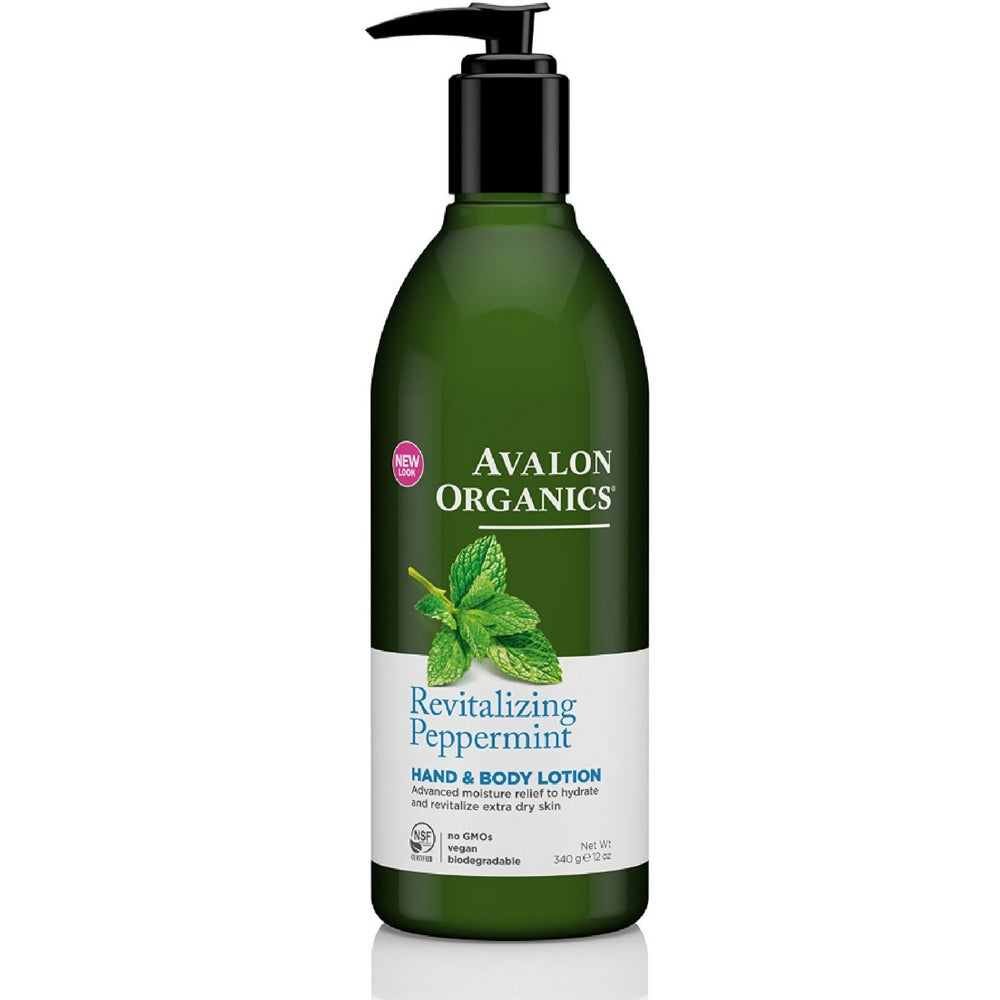 Avalon Organics Hand & Body Lotion, Peppermint 12 oz