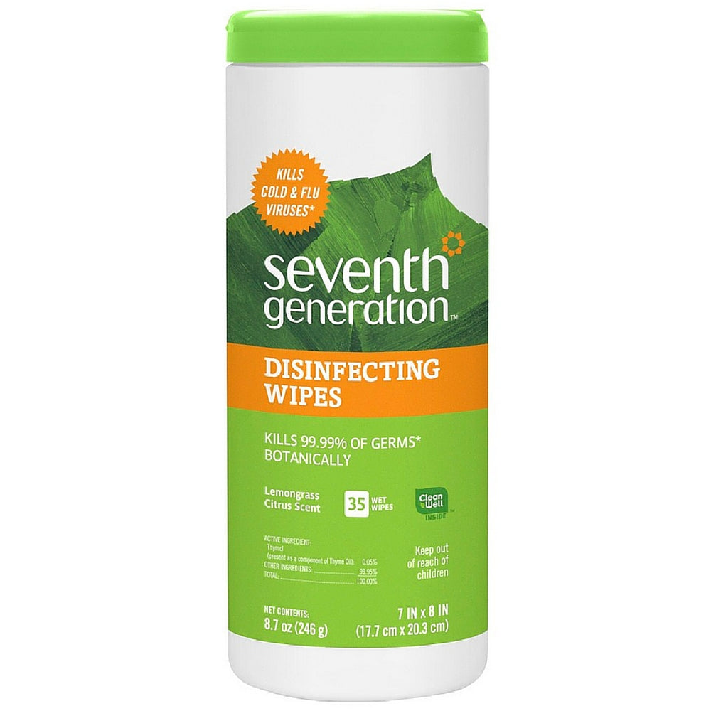Seventh Generation Disinfecting Multi-Surface Wipes 35 ea