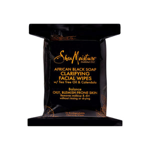 Shea Moisture African Black Soap Facial Wipes 30 ea