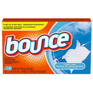 Bounce Fabric Softener Sheets, Fresh Linen 40 ea