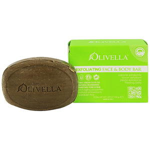 Olivella Exfoliating Face & Body Bar Soap 5.29 oz