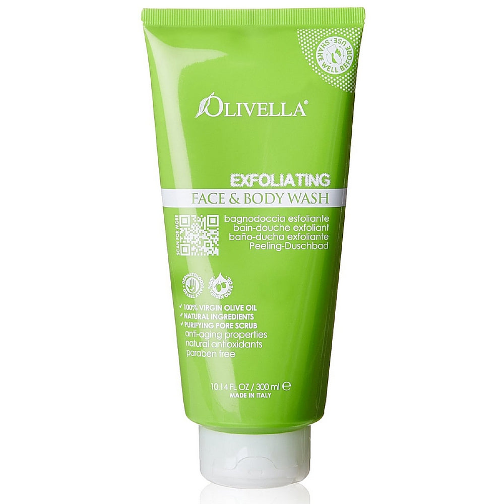Olivella Exfoliating Face and Body Wash 10.14 oz