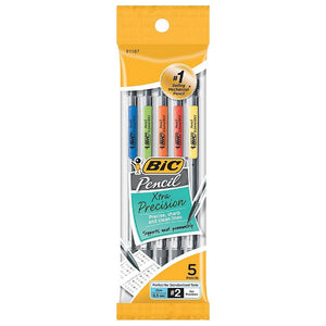 Bic Xtra Precision Fine Point Mechanical Pencils, 0.5mm 5 ea