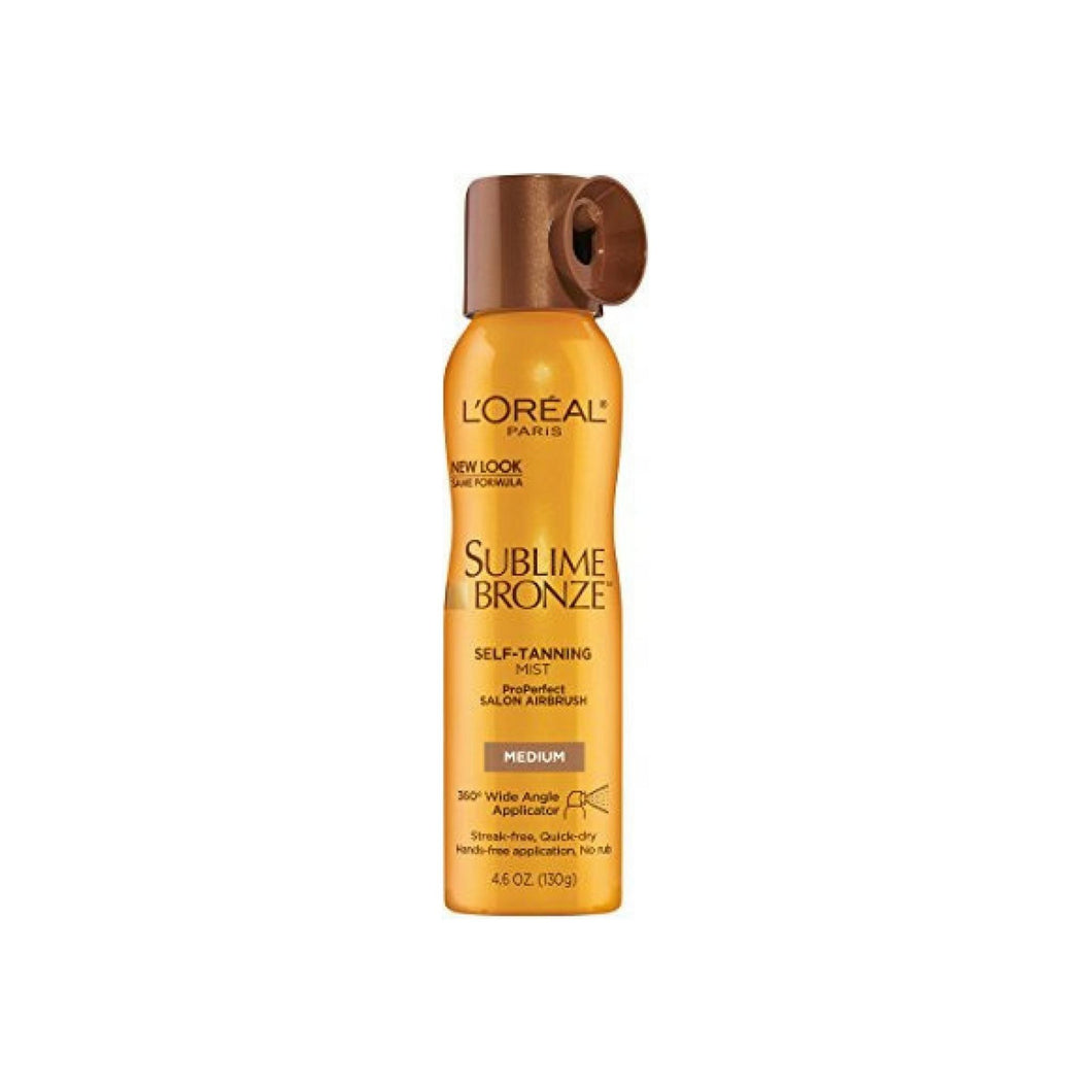 L'Oreal SUBLIME BRONZE Self-Tannning Mist, Medium Natural Tan 4.60 oz